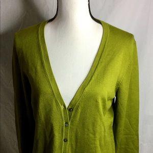 CHARTER CLUB Cardigan Sweater Olive Size M